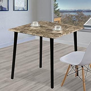 Olee Sleep 方形餐桌,带人造大理石顶部