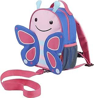 Skip Hop Zoo 小孩幼童安全背帶滾輪式背包、適合 2 歲以上、花朵蝴蝶樣式設計