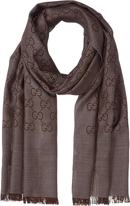 意大利产 GUCCI 古驰 双G印花羊毛混纺围巾 镇店之宝¥1041 三色可选