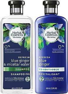 Herbal Essences Bio Renew Micellar 水蓝姜洗发水和护发素套装(4 件装)