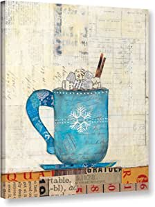 """Tremont Hill Courtney Prahl """"Cozy Cups I""""画廊包装油画 蓝色 18X24"""" 2pra029a1824w"""