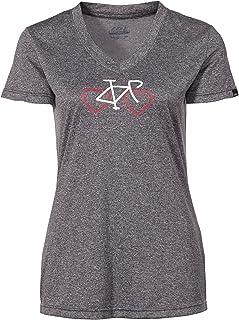Louis Garneau 女士 Love Cycling T 恤(S 码,灰色)