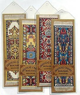 ORIENTAL RUG 地毯书签(4 件套)各种设计 - 美丽、优雅、编织布书签!