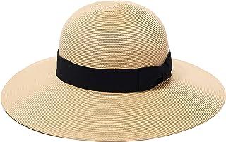 菠萝和星星巴黎太阳海滩宽檐草帽精致编织UPF50+ 女款