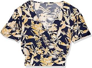 FREEZ MART 衬衫 热带花纹镂空短款衬衫 女士 131-0110061