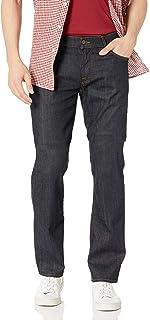 7 For All Mankind 男式标准直筒牛仔裤,深色