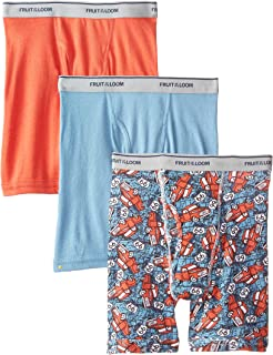 Fruit of the Loom Big Boys' Print And Solid Boxer Brief