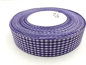 格子丝带 . 高端加厚。 2.5cm 45.7m 卷 ribbons