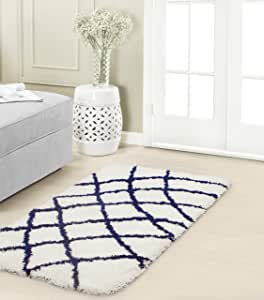 Vista Living YMA006834 钻石粗纹小地毯,灰色/白色