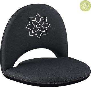 Mindful and Modern 可折叠可调节冥想椅 – 带背部支撑 适用于室内和室外 – 带防水底座的地板椅