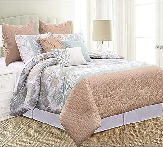 amrapur OVERSEAS | Melrose 8件装饰盖被套装大号双人床淡紫色