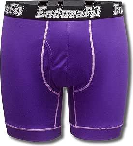 EnduraFit 男式 17.78 厘米内缝性能平角内裤 大 紫色 EFBBB7