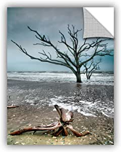 """ArtWall Steve Ainsworth's Trees in Surf Art Appeelz Removable Graphic Wall Art, 24 x 32"""""""