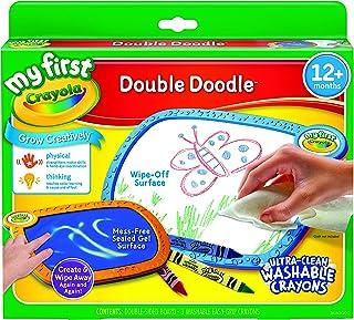 Crayola 无脏乱涂色板,我的*个双层涂鸦板,给学步儿童礼物