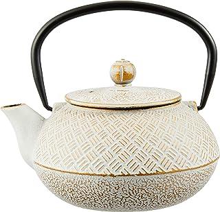柯塔(Cotta)Cotta 铁器茶壶 格子 白金 白 金 17.8×15.3×15.5cm 92165