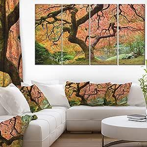 "designart 4Panel "" 秋枫树 Tree 风景摄影 "" 油画印刷品"
