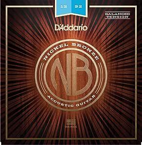 D'Addario 达达里奥 镍铜原声吉他弦NB1252BT  Light (Balanced Tension), 12-52