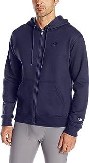 Champion 男士 Powerblend 全拉链连帽衫休闲时尚卫衣