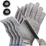 FORTEM 抗切割手套 - 5 级保护,EN388 认证*切割手套,保护手部,厨房,户外工作场 Large 2 Pair W-FH1702-L-2