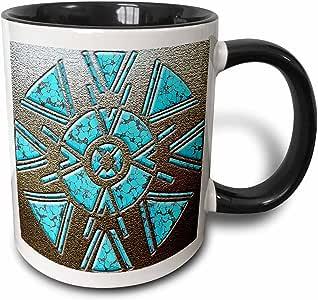 mug_108088 Spiritual Awakenings Native American - Designer One of A Kind Native American Art - Mugs 黑色/白色 11-oz Two-Tone Black Mug