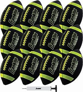 Franklin Sports 青少年尺寸橄榄球 - Grip-Rite 青少年足球 - Extra Grip 合成皮革,非常适合儿童 - 1 包充气- 12 只装打气泵