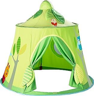 HABA 魔法森林游戏帐篷 - 独立布料柜带网窗和门,适合年龄 18 个月及以上