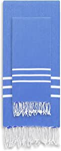 Linum Home Textiles ALR50-SET Alara Turkish Pestemal Beach Towel Set