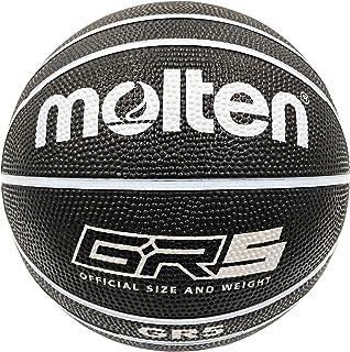 【Amazon.co.jp限定】molten(molten)5号球(小学生用)篮球 橡胶 黑×白 GR5 BGR5-KW