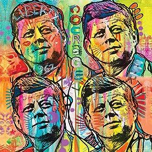 Dean Russo-JFK 政治标志民主党海报印刷 12 x 12 TTS140