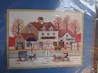 尺寸 Charles Wysocki 古董 Shoppes 十字绣花套装 # 3566 Vintage 1985 由制造商退休/停产。 美国制造