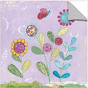 "Tremont Hill Courtney Prahl ""Pattys Garden I""可移除壁画 紫色 36X36"" 2pra047a3636p"