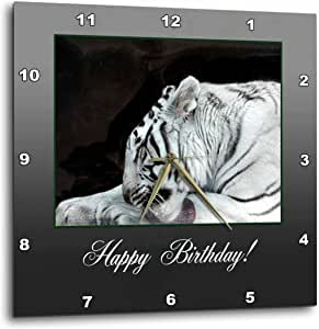 3dRose dpp_179274_3 White Tiger Grooming, Birthday-Wall Clock, 15 by 15-Inch