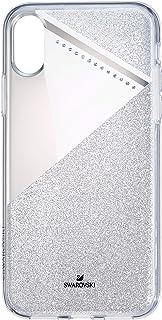 SWAROVSKI 精致智能手机手机壳,带集成缓冲器,iPhone X/XS,银色闪光