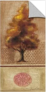 "Silvia Vassileva ""树玫瑰 IV""可移除墙壁艺术壁画,30.48 x 60.96 厘米"