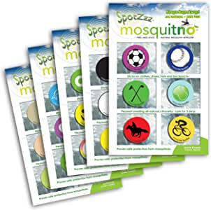 Mosquitno 5-Pack Natural Mosquito Repellent Spotz Stickers Sports/Specialty/Primary/Earth Tone 均码