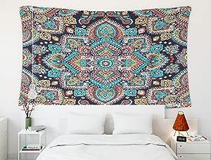 "Crannel 迷幻挂毯,维多利亚的夜天空挂毯 152.40 x 127 cm 壁挂艺术挂毯,适用于宿舍房间、起居家装饰 Multi 4 60"" L x 50"" W"