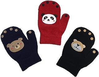 N'Ice Caps 幼童男孩和婴儿魔术弹力手套 3 双装