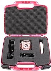 CASEMATIX KIDCASE 粉色儿童防水相机箱适合 Ourlife 儿童防水相机摄像机,Ourlife *卡配件,可定制泡沫