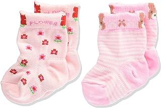 Baby Story 新生儿袜子2双装 ウサギ&花