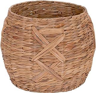 Household Essentials ML-4112 Hyacinth 圆形地板篮,X 设计