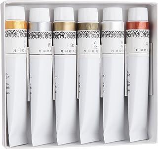 丹羽 日本画用颜料 丹羽 新日本画颜料 金银六色套装 20ml(6号)