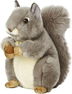 Aurora World Miyoni 灰松鼠8英寸高毛绒玩具