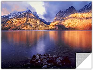 ArtWall Dean Uhlinger 'Jenny Lake Sunrise' Removable Graphic Wall Art, 14 by 18-Inch