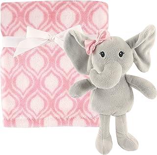 Hudson Baby 毛绒毯和动物*毯套装 粉色大象 均码