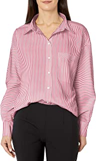 A|X Armani Exchange 阿玛尼女式经典系扣衬衫,带单胸袋