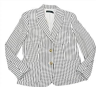 Ralph Lauren 竖条纹 Anfisa 套装单独棉质运动夹克