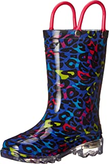 Western Chief Kids Girls' Light-Up Waterproof Rain Boot
