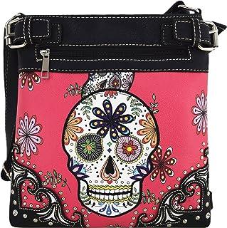 糖头骨 DAY OF THE dead 斜挎包手提包隐藏携带 purses 国家女式单肩包