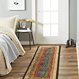 """Home  Dynamix  41019-450  Royalty  Collection  1'9""""  x  7'2""""  Black  Transitional    Area Rug  Runner"""