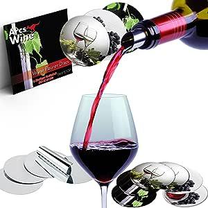 Arcs Wine Pourer Disc - Best Drip Stop Pour 喷嘴 - 超薄灵活且可重复使用的滴漏盘 银色 WD-30